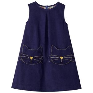 Mini Boden Cat Pocket Corduroy Pinafore
